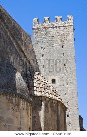 Medieval tower. Tarquinia. Lazio. Italy.