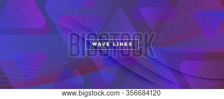 Red Dynamic Abstract. Fluid Lines Pattern. 3d Background. Wave Minimal Stripes. Gradient Vibrant Dyn