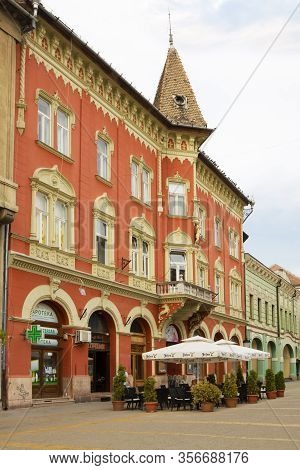 Subotica, Serbia - August 31, 2012: A Beautiful House In Neo-gothic Style In Subotica. Subotica Is A