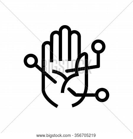 Divination By The Hand Icon Vector. Divination By The Hand Sign. Isolated Contour Symbol Illustratio