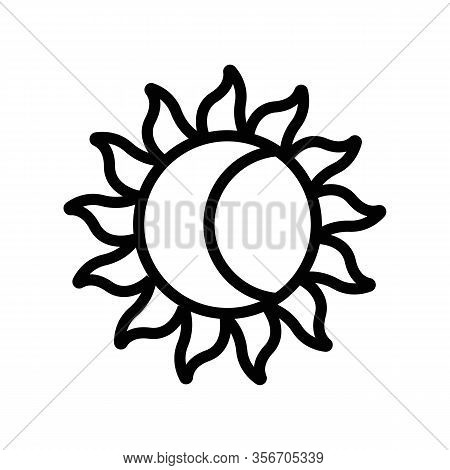 The Sun And The Moon Mystery Icon Vector. The Sun And The Moon Mystery Sign. Isolated Contour Symbol