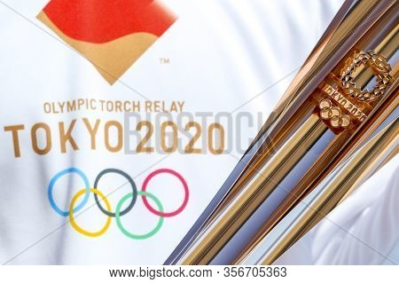 Olympic Flame Handover Ceremony For The Tokyo 2020 Summer Olympic Games