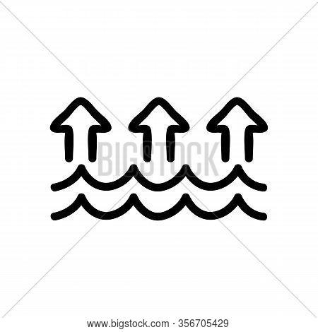 Evaporation Icon Vector. Evaporation Sign. Isolated Contour Symbol Illustration