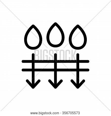 The Penetration Of Moisture Icon Vector. The Penetration Of Moisture Sign. Isolated Contour Symbol I