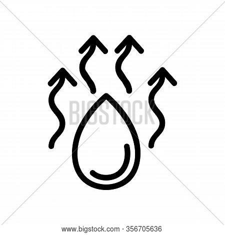 Moisture Evaporation Icon Vector. Moisture Evaporation Sign. Isolated Contour Symbol Illustration