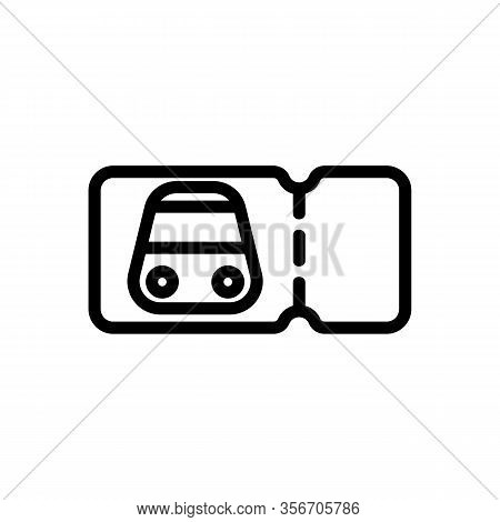Subway Ticket Disposable Icon Vector. Subway Ticket Disposable Sign. Isolated Contour Symbol Illustr