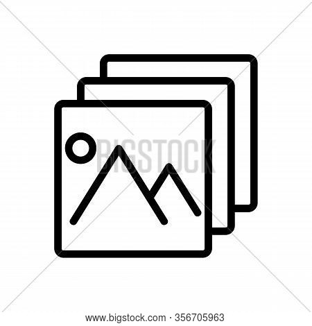 A Picture Layer Icon Vector. A Picture Layer Sign. Isolated Contour Symbol Illustration