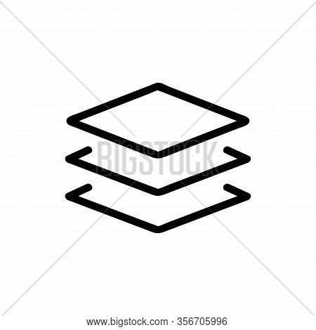 Complex Composition Layer Icon Vector. Complex Composition Layer Sign. Isolated Contour Symbol Illus