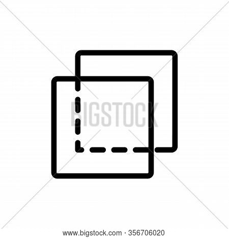 Transparent Layer Icon Vector. Transparent Layer Sign. Isolated Contour Symbol Illustration