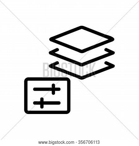 The Protective Layer Icon Vector. The Protective Layer Sign. Isolated Contour Symbol Illustration