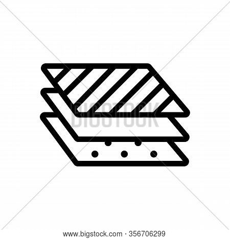 Three Different Layers Icon Vector. Three Different Layers Sign. Isolated Contour Symbol Illustratio