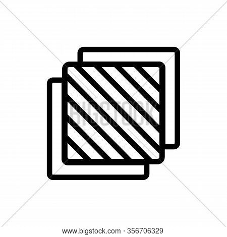 Three Layers Icon Vector. Three Layers Sign. Isolated Contour Symbol Illustration