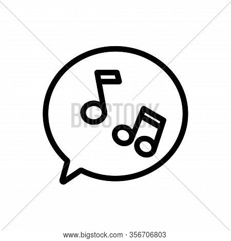 The Sound Of Melody Icon Vector. The Sound Of Melody Sign. Isolated Contour Symbol Illustration