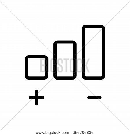 The Volume Of The Sound Icon Vector. The Volume Of The Sound Sign. Isolated Contour Symbol Illustrat