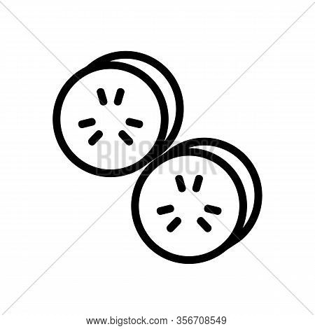 Salad Cucumber Icon Vector. Salad Cucumber Sign. Isolated Contour Symbol Illustration
