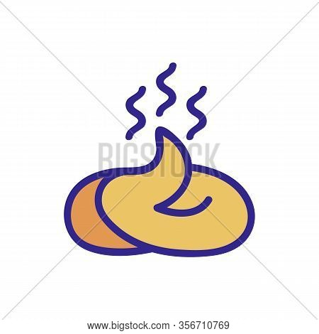 Stinking Shit Icon Vector. Stinking Shit Sign. Color Isolated Symbol Illustration