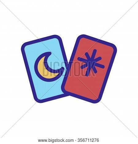 Card Guess Icon Vector. Card Guess Sign. Color Isolated Symbol Illustration