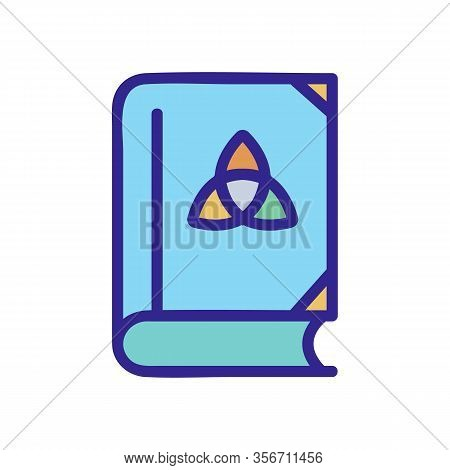 The Book Of Wizard Icon Vector. The Book Of Wizard Sign. Color Isolated Symbol Illustration