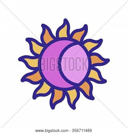 The Sun And The Moon Mystery Icon Vector. The Sun And The Moon Mystery Sign. Color Isolated Symbol I