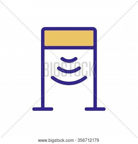 The Metal Detector Frame Icon Vector. The Metal Detector Frame Sign. Color Isolated Symbol Illustrat
