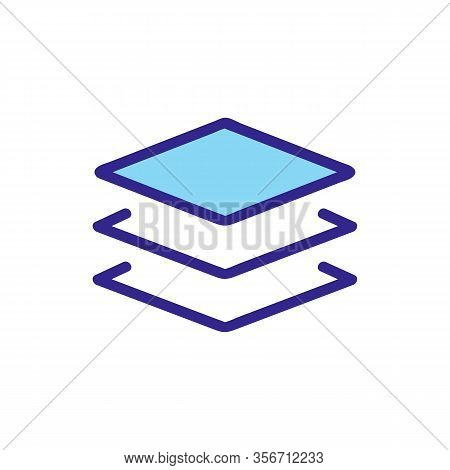 Complex Composition Layer Icon Vector. Complex Composition Layer Sign. Color Isolated Symbol Illustr