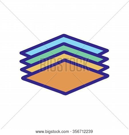 A Layered Composition Icon Vector. A Layered Composition Sign. Color Isolated Symbol Illustration