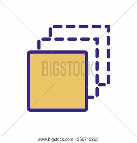 Three Different Layers Icon Vector. Three Different Layers Sign. Color Isolated Symbol Illustration