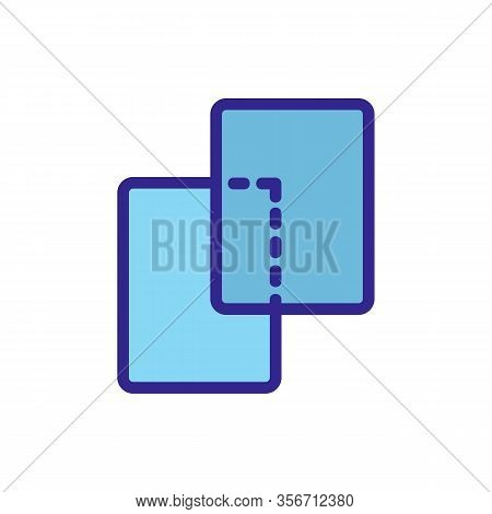 The Same Layers Icon Vector. The Same Layers Sign. Color Isolated Symbol Illustration
