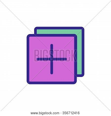 A New Layer To Add Icon Vector. A New Layer To Add Sign. Color Isolated Symbol Illustration