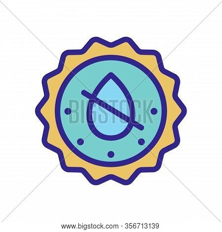 Does Not Contain Liquid Icon Vector. Does Not Contain Liquid Sign. Color Isolated Symbol Illustratio