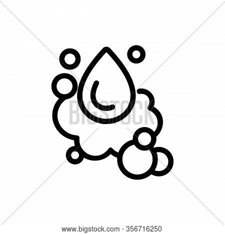 Foam Water Droplets Icon Vector. Foam Water Droplets Sign. Isolated Contour Symbol Illustration
