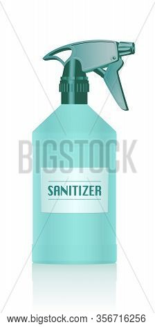 Sanitiser Spray Bottle. Disinfectant For Hygienic, Antiseptic, Antibacterial, Antimicrobial Cleaning