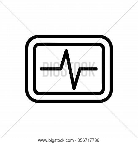 Heartbeat Icon Vector. Heartbeat Sign. Isolated Contour Symbol Illustration