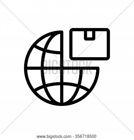 Export Planet Product Icon Vector. Export Planet Product Sign. Isolated Contour Symbol Illustration