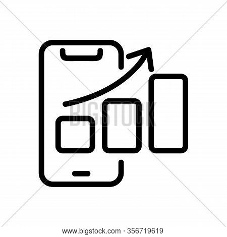 Smartphone Faster Icon Vector. Smartphone Faster Sign. Isolated Contour Symbol Illustration