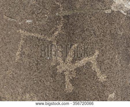 Petroglyphs At Langar Ibex