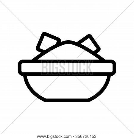 Avocado Salad Icon Vector. Avocado Salad Sign. Isolated Contour Symbol Illustration