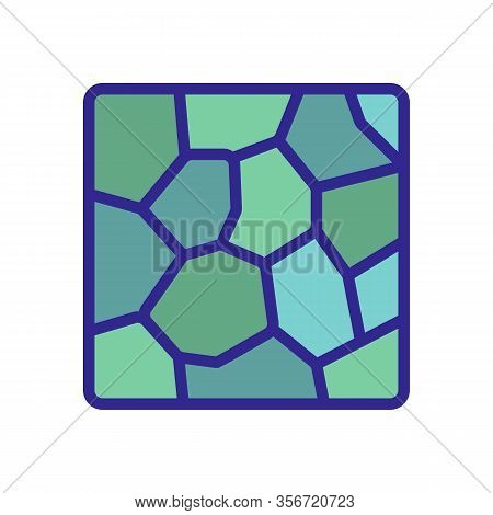 Tile Narrow Icon Vector. Tile Narrow Sign. Color Isolated Symbol Illustration