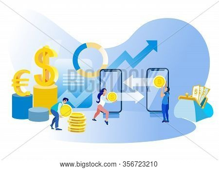 Cryptocurrency Exchange Online Bitcoin Business And Trade Currency Fluctuations Vector Financial Ana
