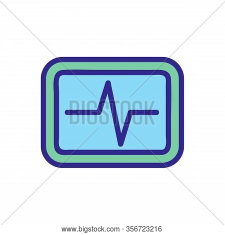 Heartbeat Icon Vector. Heartbeat Sign. Color Isolated Symbol Illustration