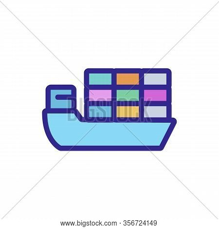 Ship The Goods Export Icon Vector. Ship The Goods Export Sign. Color Isolated Symbol Illustration