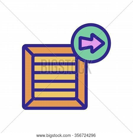 Sending Mail Icon Vector. Sending Mail Sign. Color Isolated Symbol Illustration