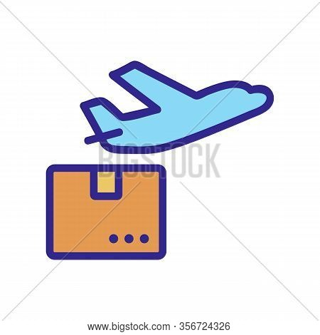 The Plane Sending Icon Vector. The Plane Sending Sign. Color Isolated Symbol Illustration