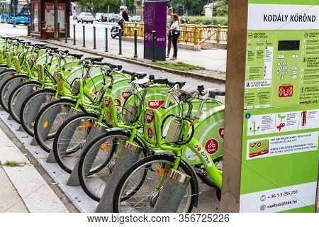 Budapest, Hungary - Mol Bubi Rental Bikes, Landscape On September 17 2019 In Hungary