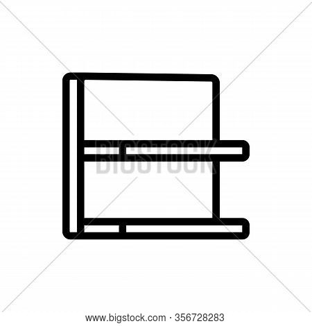 Showcase Shelf Icon Vector. Showcase Shelf Sign. Isolated Contour Symbol Illustration
