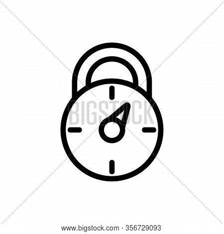 Password Combination Lock Icon Vector. Password Combination Lock Sign. Isolated Contour Symbol Illus