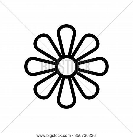 The Inflorescence Of Chrysanthemum Icon Vector. The Inflorescence Of Chrysanthemum Sign. Isolated Co