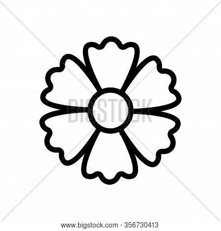 Autumn Chrysanthemum Icon Vector. Autumn Chrysanthemum Sign. Isolated Contour Symbol Illustration