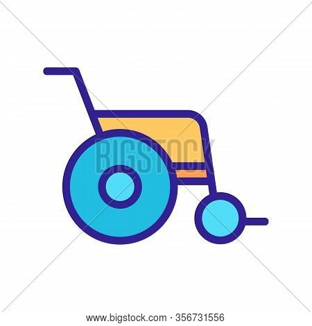 Wheelchair Icon Vector. Wheelchair Sign. Color Isolated Symbol Illustration