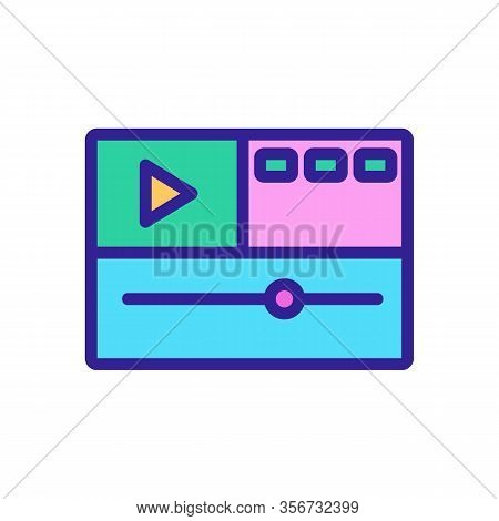 Video Montage Icon Vector. Video Montage Sign. Color Isolated Symbol Illustration